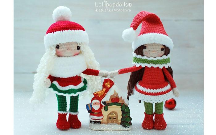 Вязаная кукла Снежная девочка. Схема
