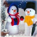 Вязаные снеговики Мистер и с Миссис Снег . Спицами