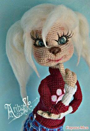 Вязаная кукла Роза Барбоскина. Схема