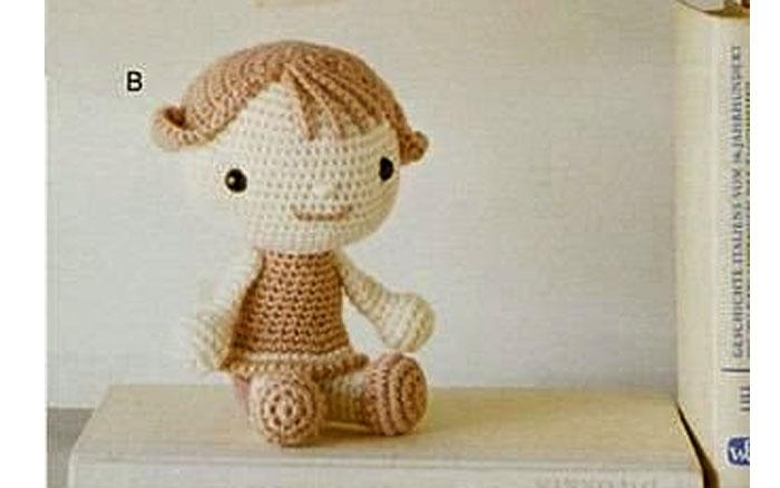 Вязаная куколка. Схема