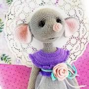 Вязаная мышка Майя