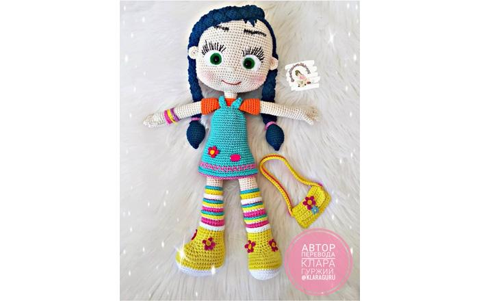 Кукла в голубом сарафане. Крючком
