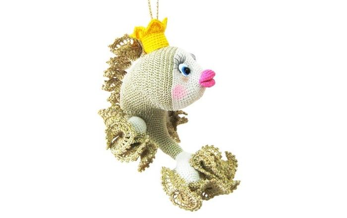 Вязаная Золотая рыбка. Схема