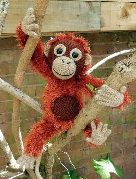 Вязаный крючком Орангутанг Орвел