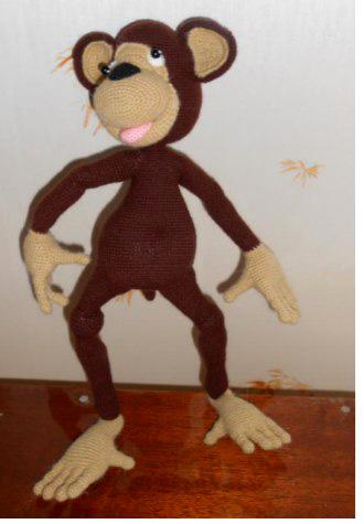 Вязаная обезьяна. Крючком