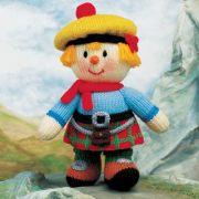 Вязаная кукла Крошка Спрут. Спицами
