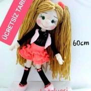 Вязаная большая кукла (60 см). Мастер-класс