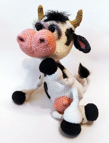 Вязаная крючком корова. Схема