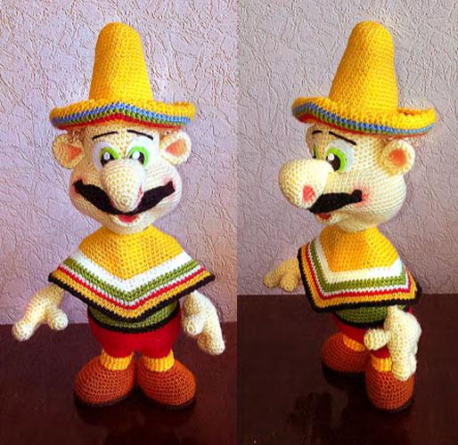 Вязаная кукла Мексиканец. Мастер-класс