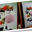 Корова Му. Схема вязания крючком