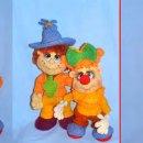 Вязаная кукла Пуговка