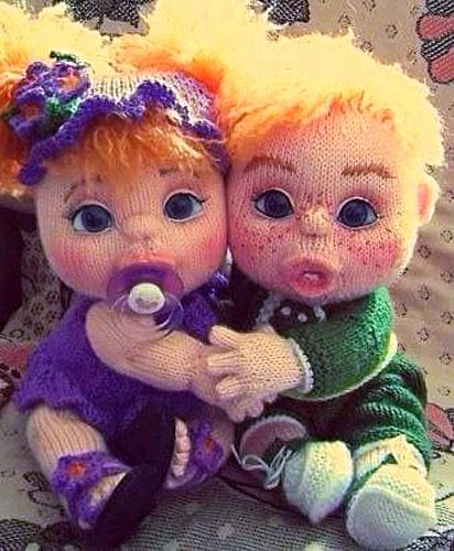 Вязаная кукла-младенец. Спицами