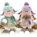 Куколки пухляшки со снежками. Крючком