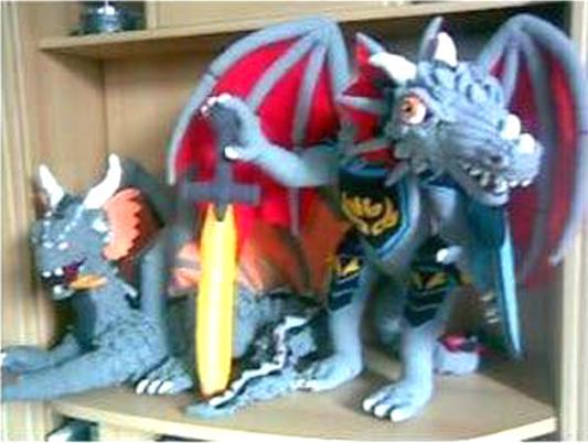 Вязаный крючком дракон Воитель Армагеддона