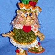 Вязаная кукла Современная бабулька