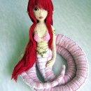Вязаная крючком кукла-змея