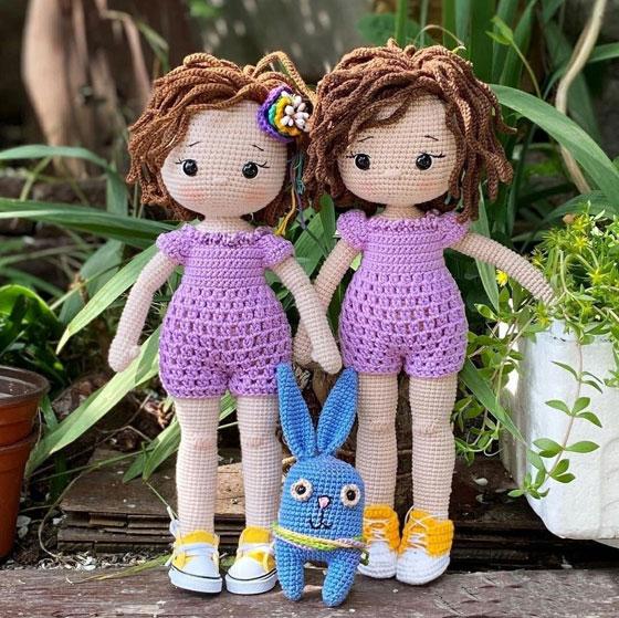Вязаная крючком кукла Джансин