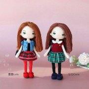 Вязаные крючком куклы Лулу и Коко