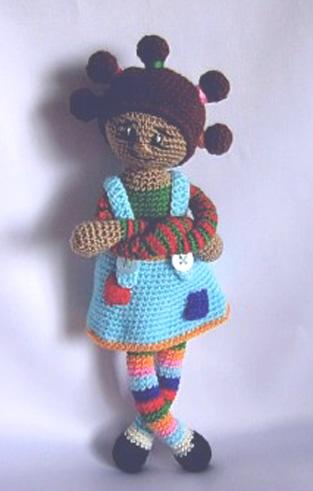 Вязаная крючком Цветная куколка. Схема