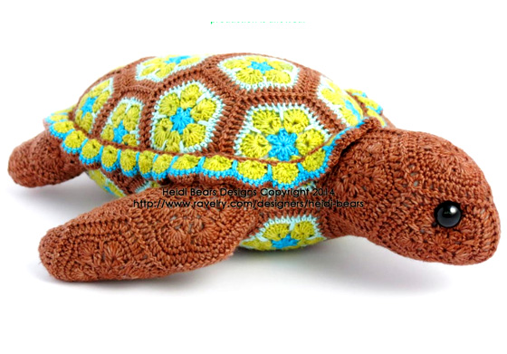 Черепаха из мотивов. Крючком