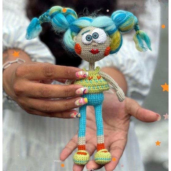 Схема вязания крючком куклы Гилва