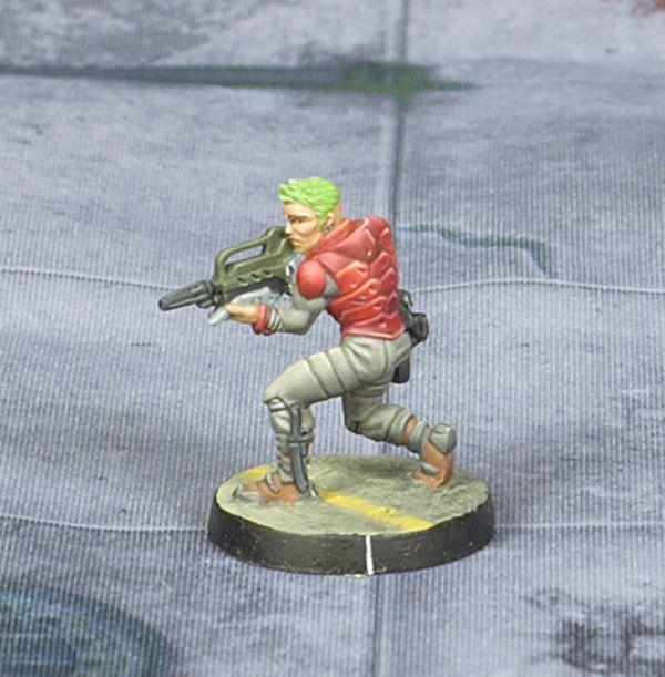 Infinity Nomad Alguacil by Corvus Belli, painted by Tyler Provick