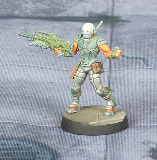 Infinity Nomad Intruder by Corvus Belli. Painted by Tyler Provick