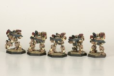 Heavy Gear Northern GP Squad. Miniatures by Dream Pod 9. Painted by Tyler Provick