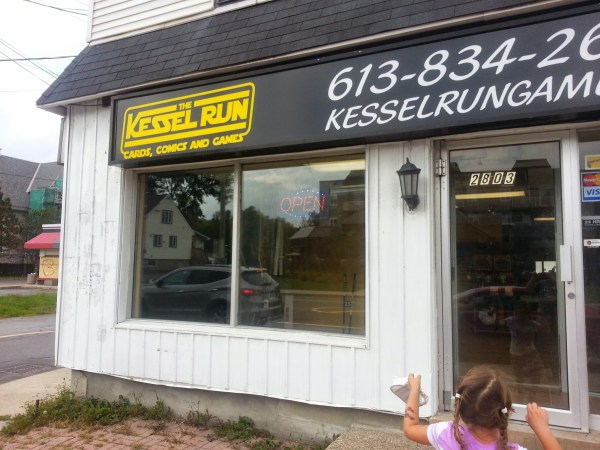The Kessel Run storefront.