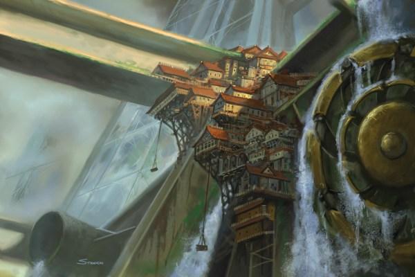 Burrow Town by Matt Stawicki. Copyright Monte Cook Games LLC.