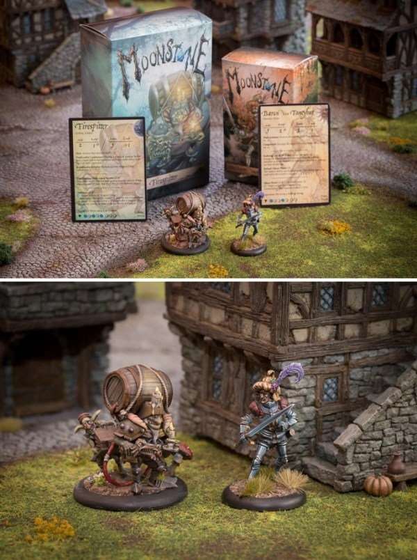 Firespitter and Baron Von Fancyhat models by Goblin King Games.