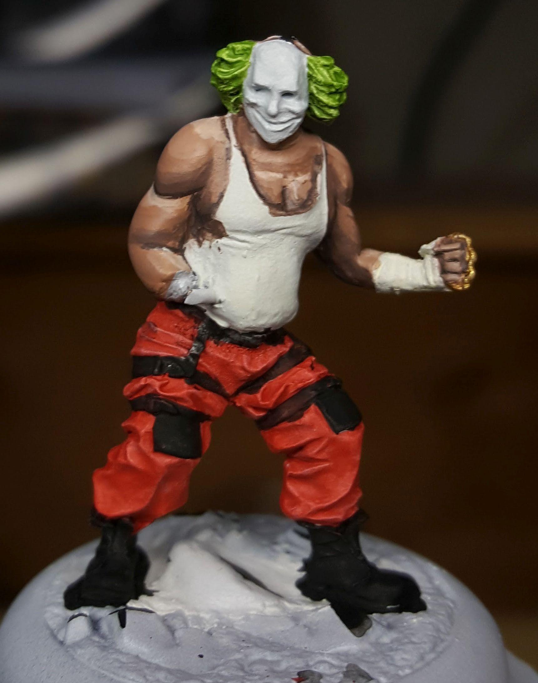 Batman Miniature Game Shield Clown Positioning