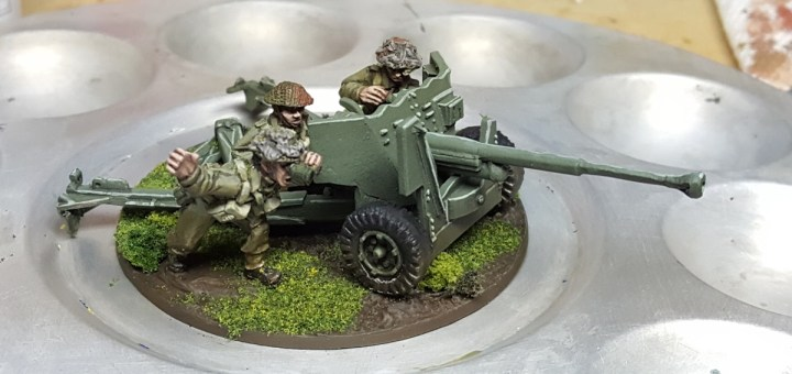 WWII Canadian Anti-Tank Team by Warlord Games.
