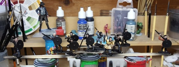 Gripping Beast Plastic Dark Age Warriors. Painted by Tyler Provick.