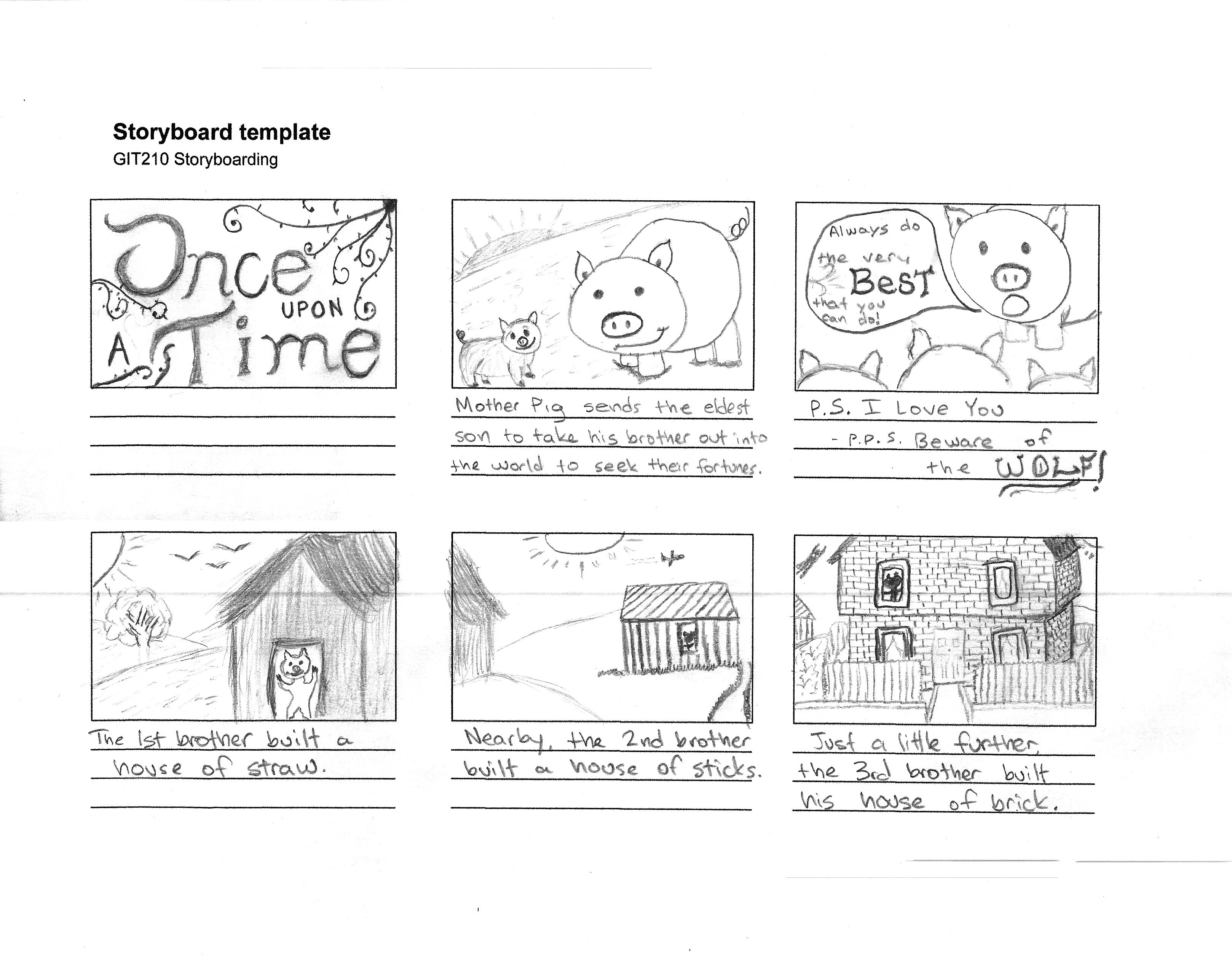 3 Little Pigs Storyboard
