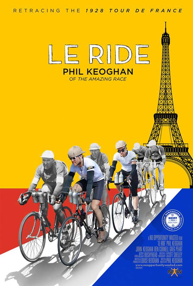 Podcast interview the The Amazing Race host Phil Keoghan who also created Le Ride Tour de France documentary film