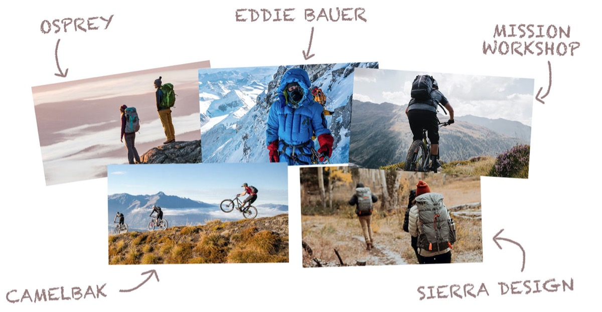Aspirational marketing examples from outdoor brands