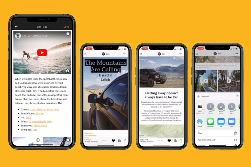 magma app lets you publish a digital magazine from your iPhone