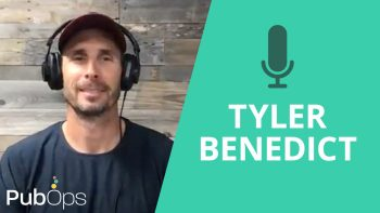 interview thumbnail showing tyler benedict talking about how to create an event for digital publishers