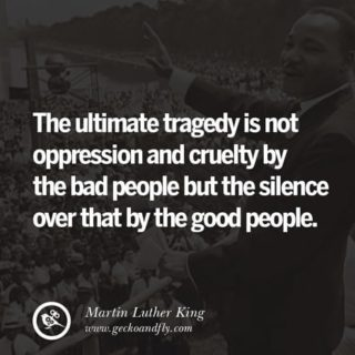 In remembrance of Dr. Martin Luther King Jr., a reminder that we must speak up when we see injustice, with peace in our hearts and strength in our conviction for righteousness. #blacklivesmatter #blm #mlk