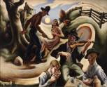 """The Ballad of the Jealous Lover"" by Thomas Hart Benton"