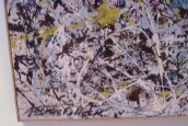 Pollock's signature up close