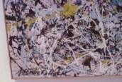 Pollock's signature up close