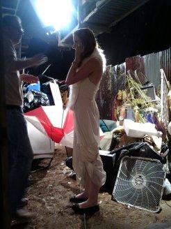 Mikael directing Laura
