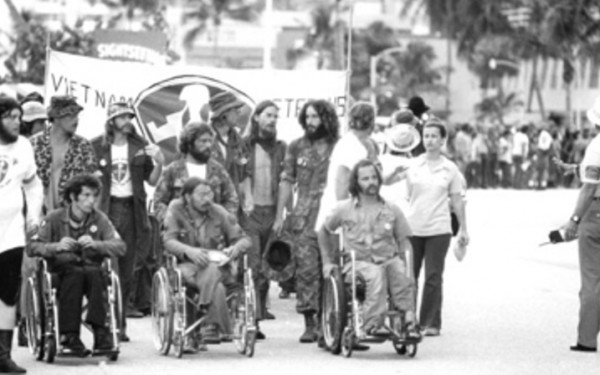 VVAW Silent March to Fontainebleau Hotel (Nixon Bunker), RNC, Miami, Fl (1972, photo VVAW File)