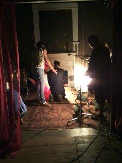 26 Preparing the Fireplace Scene