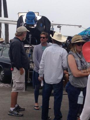 23 Ride filming on Venice Beach with Luke Wilson