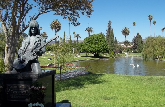 04 Johnny Ramone with Hollywood Sign in Background