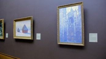 28 Wheatstacks and Rouen Cathedral by Monet