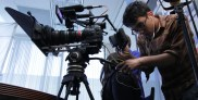 06 DP Huan setting up Canon C300 for Mel Gibson interview
